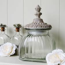 Decorative Glass Jars With Lids Glass Lidded Storage Jar Bliss and Bloom Ltd 14