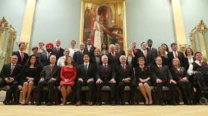 Image result for justin trudeau cabinet swearing in