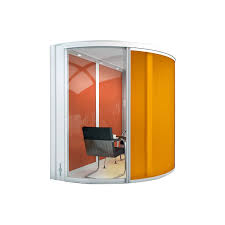 office pod. airea half round office pod by orangebox