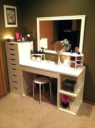 makeup vanity with storage thecalloftheland info regard to desk plans 19