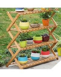 garden shelves. Magshion Pot Plant Stand 4 Tier Flower Planter Rack Shelf Shelves Organizer Garden N
