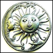 sun and moon wall art talavera painted metal on talavera metal wall art with large sun and moon metal wall art metal talavera sun moon and star