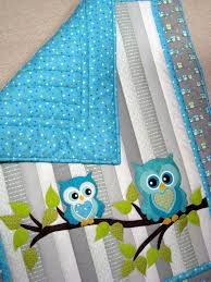 1062 best Quilts: Children's Quilts images on Pinterest | Baby ... & Owl Baby Quilt Whoooo wouldnt love to cuddle with this adorable baby quilt??  It Adamdwight.com