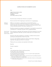 5 leaving notice letter sample ledger paper sample notice of maternity leave letter by yol13928
