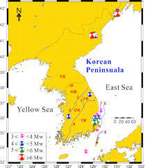 Tectonic map of the Korean Peninsula including the study area of South...
