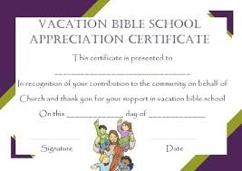 Vbs Certificate Template 12 Vbs Certificate Templates For Students Of Bible School
