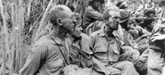 Image result for approximately 75,000 Filipino and American troops on Bataan were forced to make an arduous 65-mile march to prison camps.MAP