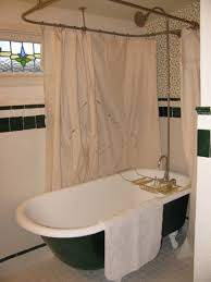 clawfoot tub shower curtain size ideas claw makeovers images of intended for measurements 860 x 1147
