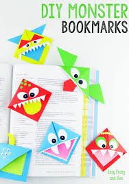 diy corner bookmarks cute monsters tutorial