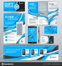 corporate ideny with abstract vector background web banner flyer booklet gift voucher business card phone wallpaper vector by antartstock