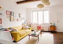 Ravishing living room furniture arrangement ideas simple Fireplace View In Gallery Scandinavian Style Living Room Lets The Yellow Couch Become The Star Of The Show design Decoist Vibrant Trend 25 Colorful Sofas To Rejuvenate Your Living Room