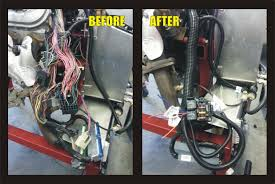 oem harness mod included bd turnkey engines llc Vortec Stand Alone Wiring Harness harness before and after jpg vortec 4.3 stand alone wiring harness