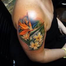 Pin by priscilla shelton on Tats | Hawaiian tattoo, Paradise tattoo, Bird  of paradise tattoo
