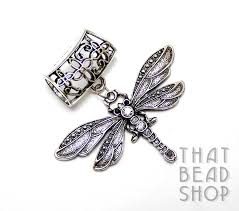 antique silver dragonfly with rhinestones scarf pendant