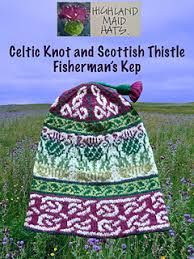 Thistle Knitting Chart Celtic Knots And Scottish Thistles Pattern By Highland Maid Hats Morven Gabriel