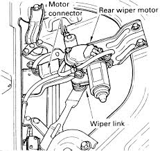 repair guides windshield wipers and washers rear window wiper Ford Rear Wiper Motor Wiring Diagram 1 rear wiper assembly rodeo shown (trooper similar) 2005 Ford Explorer Wiper Motor Schematic