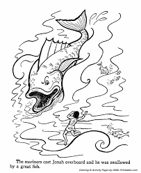 Jonah And The Whale Big Fish Old Testament Coloring Pages