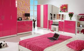 Pink And White Bedrooms Creative Bookcase On The Wall Lovely Pink