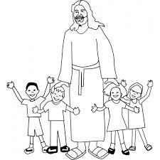 Disegno Di Gesù Con I Bambini Da Colorare Per Bambini