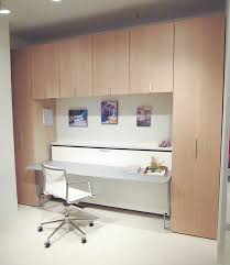 horizontal twin murphy bed inside desk combos save space and add interest to small rooms remodel