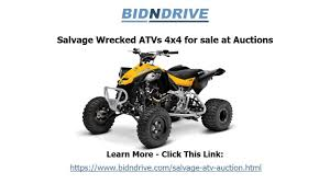 four wheelers salvage atv auction