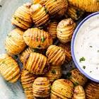 awesome roasted potatoes with sour cream dip