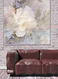 white rustic fl canvas art