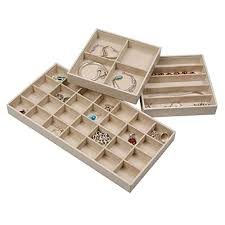 elegant jewelry trays set of 3 stackable jewelry organizer trays for showcasing storing earrings