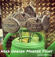 herb garden markers signs plant lables gift