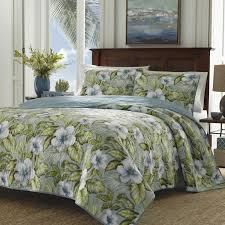 Tommy Bahama Bedding Alba Botanical Reversible Quilt Set Tommy