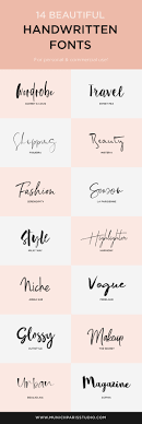Fashion Design Fonts 14 Beautiful Hand Lettered Fonts For Logo Branding