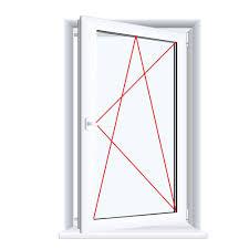Kunststofffenster Badfenster Ornament Chinchilla Weiss Drehkipp