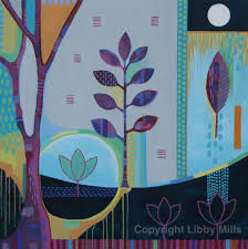 art connections with nature painting acrylic libby mills