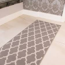 3 of 4 soft touch grey brown taupe classic grey trellis geometric print moroccan rug uk