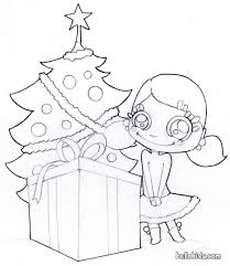 christmas tree with presents coloring pages. Beautiful Presents Christmas Tree And Presents Coloring Pages To With F