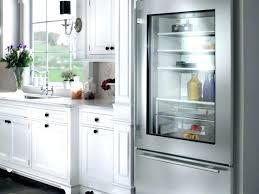 glass door refrigerator residential clear