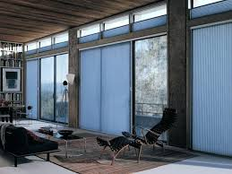 cellular shades for sliding doors honeycomb shades on a sliding glass door inside view for
