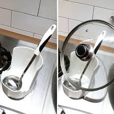 upright spoon and lid rest kitchen countertop soup spoon holder utensils lid holder