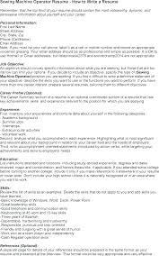 Cnc Operator Resume Operator Resume Machine Operator Resume Machine