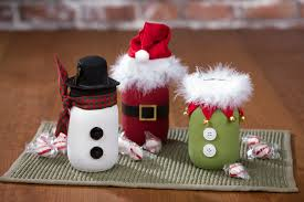 Christmas Decorated Mason Jars Santa Snowman and Elf Chalky Paint Mason Jars Craft Warehouse 20