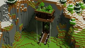 Browse and download minecraft background texture packs by the planet minecraft community. Minecraft Render Cliffside House You Are Allowed To Use This As A Background Minecraft