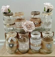 Decorate Jam Jars 60xshabbychicvintagerusticdecoratedjamjarslacetwinejute 3