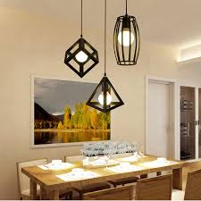 dining room lamp. Simple Room American Vintage Geometrical Creative Pendant Lights Simple Dining Room Lamp  Iron With E27 Bulbs Throughout A