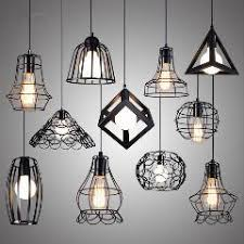 loft industrial iron cage. Nordic Iron Cage Pendant Light 11 Kinds Wrought Lampshade Warehouse Loft Aisle Balcony Cafe Industrial Vintage Hanging Lamp I