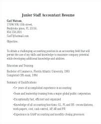 Cover Letter Junior Accountant Resume Resume Junior Accountant Staff