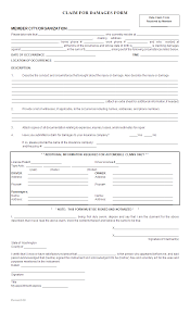 Claim Form In Word Download Property Damage Reporting FormTemplate WordXerox 13