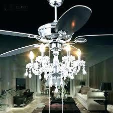 bling ceiling fans fan chandelier light kit medium size of globes