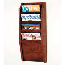 magazine rack wall mount: dakota wave  pocket wall mount magazine rack