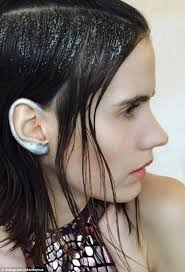e age metallic ear make up is the hot new trend