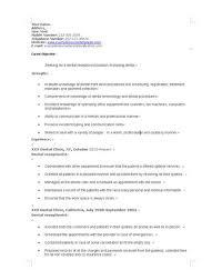 Dental Office Resume Resume Sample